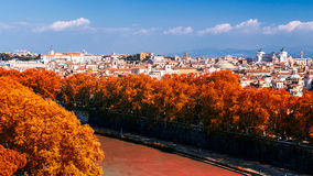 Skyline of Rome, Italy. Panoramic view of Rome architecture and Royalty Free Stock Images