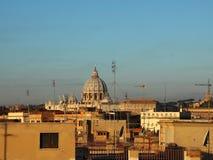 Cityshape of Rome Italy with Saint Peter Church Stock Photos
