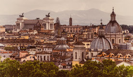 Skyline of Rome in Italy Royalty Free Stock Photo