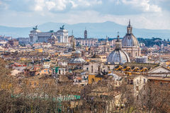 Skyline of Rome with Saint Pietro's Basilica Stock Images