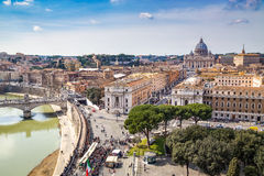 Skyline of Rome and St. Peter's Basilica Royalty Free Stock Image