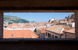 Skyline and rooftops of Dubrovnik, Croatia Stock Photo