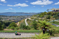 Skyline Rotorua Luge in Rotorua city - New Zealand Royalty Free Stock Photo