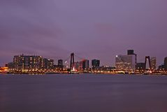 Skyline of Rotterdam Royalty Free Stock Photos