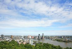 Skyline of Rotterdam royalty free stock images