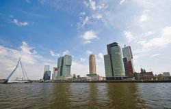 Skyline of Rotterdam City Royalty Free Stock Image