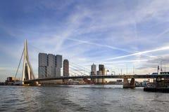 Skyline of Rotterdam stock photo