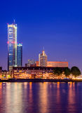 Skyline in Rotterdam, The Netherlands. Royalty Free Stock Image