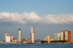 Skyline of Rotterdam in the Netherlands Royalty Free Stock Images