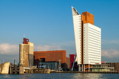 Skyline of Rotterdam in the Netherlands Royalty Free Stock Photos