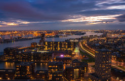 Skyline of Rotterdam Stock Photos