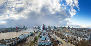 Skyline Rotterdam panorama Royalty Free Stock Photography