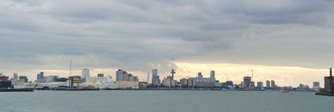 Skyline Rotterdam Port Royalty Free Stock Photos