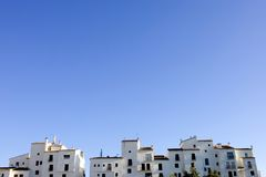 Skyline of rows of apartment blocks in Spain Stock Image