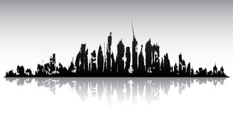 Skyline ruined city Royalty Free Stock Photography