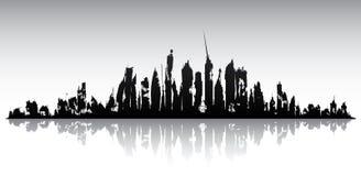 Skyline ruined city Royalty Free Stock Photography