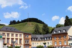 The skyline of Saarburg. Stock Photos
