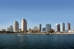 Skyline of San Diego, California Stock Photos