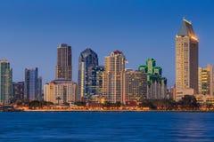 Skyline of San Diego, California from Coronado Bay Stock Photos