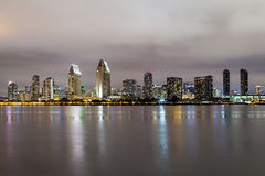 Skyline of San Diego, California downtown by night Stock Image