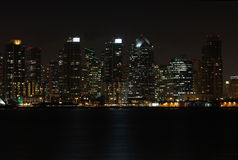 Skyline of San Diego at night royalty free stock photo
