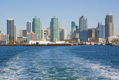 Skyline of San Diego from the water Stock Images