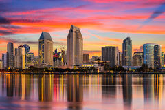 Skyline San Diegos, Kalifornien stockfoto