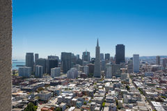 The skyline of San Francisco Stock Photography
