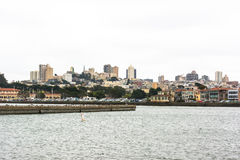 Skyline of San Francisco in a cloudy day Royalty Free Stock Photography