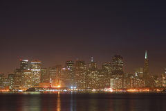 The Skyline of San Francisco at Night. This is the Skyline of San Francisco at Night Royalty Free Stock Photo