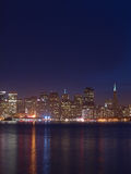 The Skyline of San Francisco at Night Royalty Free Stock Image