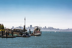 Skyline of San Francisco from Tiburon, California Stock Photography