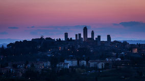 Skyline San-Gimignano stockbild