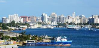 Skyline San- Juan, Puerto Rico Stockbilder