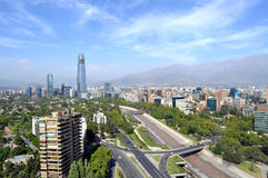 Skyline of Santiago, Chile Royalty Free Stock Images
