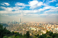 The skyline of Santiago in Chile Stock Photography