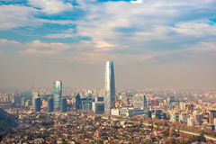 The skyline of Santiago in Chile Stock Photos