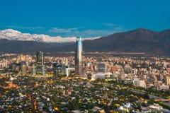 Skyline of Santiago de Chile Royalty Free Stock Photography