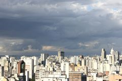 Skyline of Sao Paulo. Skyline view from Higienopolis, Sao Paulo, Brazil Royalty Free Stock Photos