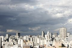 Skyline of Sao Paulo. Brazil Royalty Free Stock Image