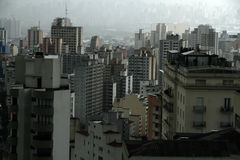 Polluted Sao Paulo Stock Photos