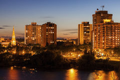 Skyline of Saskatoon Stock Images