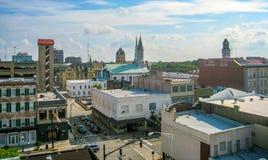 Skyline in Savannah, Georgia royalty free stock photos