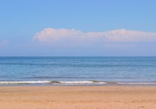 Skyline in the sea  background Royalty Free Stock Photography