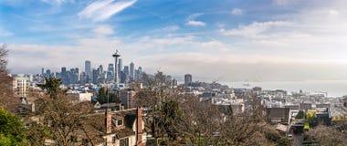 Skyline of Seattle in daylight Royalty Free Stock Photo
