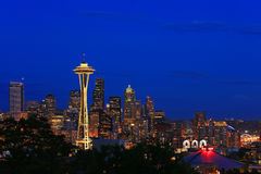 Skyline Seattle. Skyline of Seattle taken from Kerry Park view point Royalty Free Stock Images