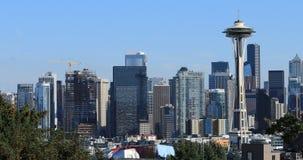 Skyline Seattles, Washington an einem vollen Tag 4K stock video