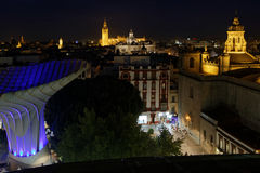 Skyline of Seville from the Metropol Parasol Stock Photos
