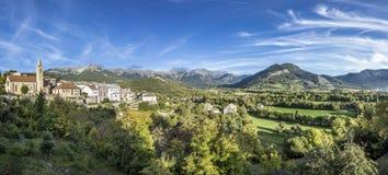 Skyline of Seyne les Alpes Royalty Free Stock Photo