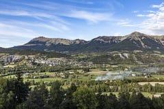 Skyline of Seyne les Alpes Royalty Free Stock Images